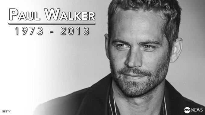 Happy birthday, Paul Walker.   He would have turned 44 years old today. Rest in peace...