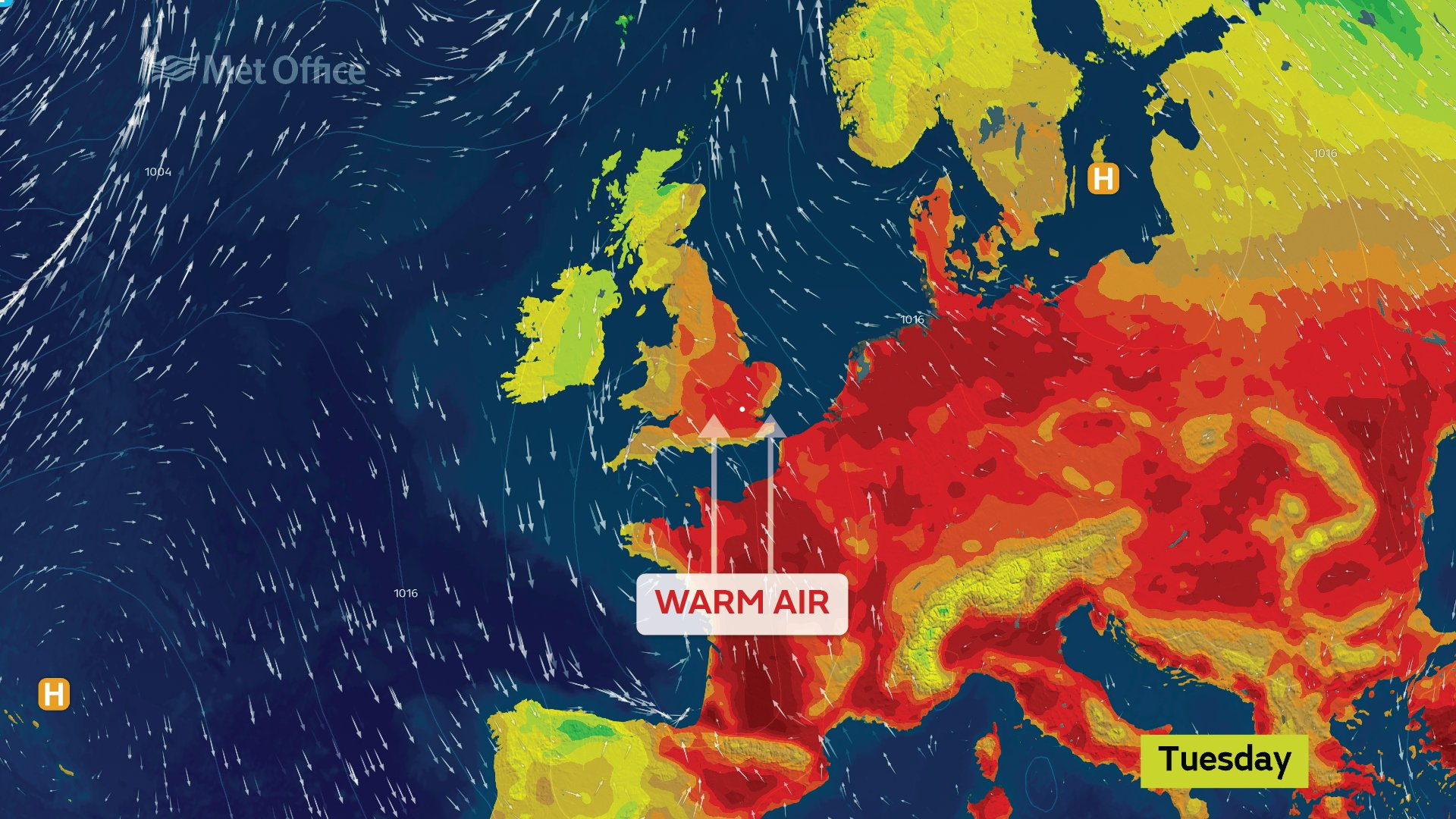 An Indian summer is bringing hot air and high temperatures to the UK today
