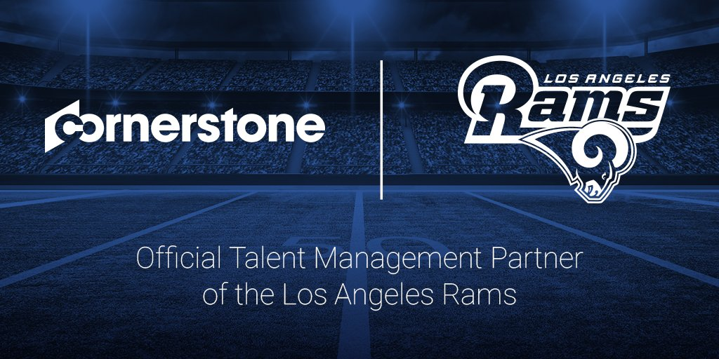 #CornerstoneOnDemand is proud to be the Official Talent Management Partner of the @RamsNFL! https://t.co/KSnXARjVgd https://t.co/Q7MIfaRejY