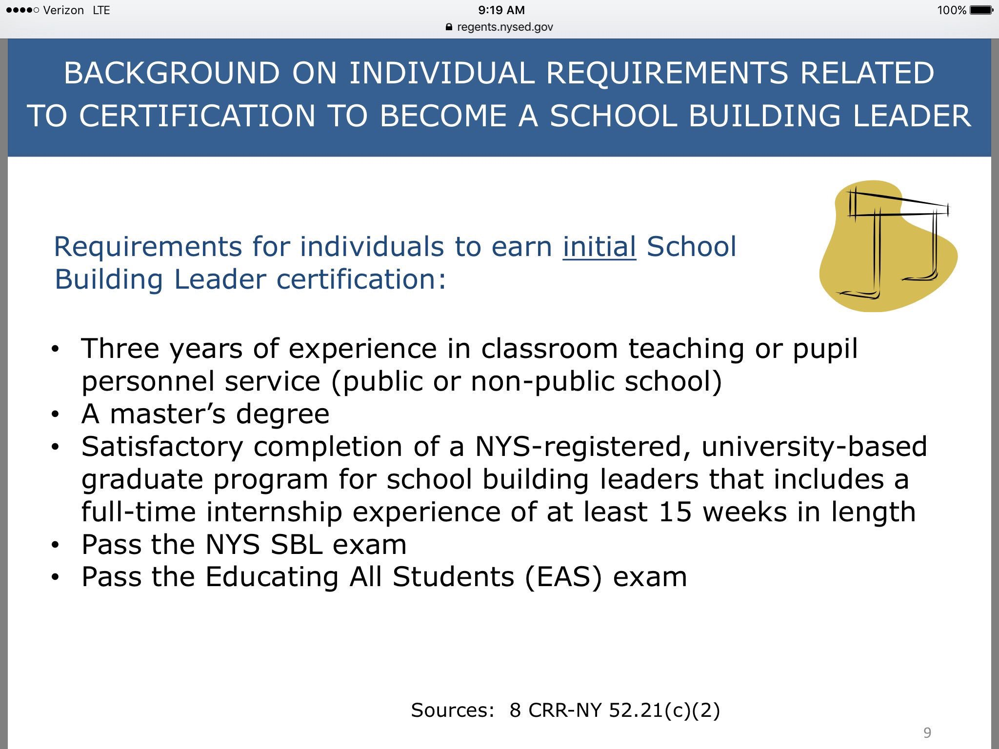 Background on requirements to become a school building leader @NYSEDNews https://t.co/vYGIlfN1uL