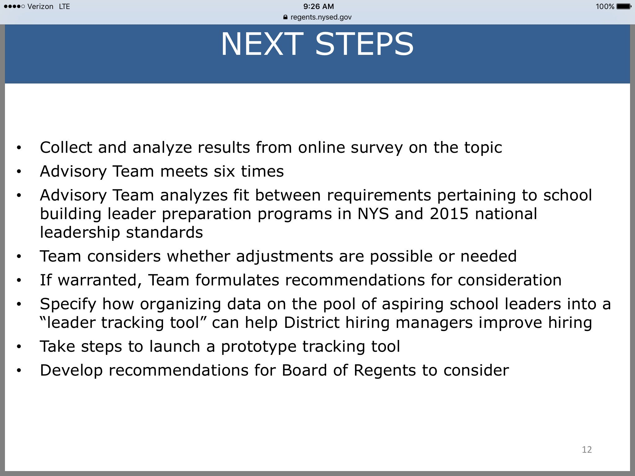 Next steps for Principal project @NYSEDNews @NYSPTA https://t.co/JKnm3bpQbm