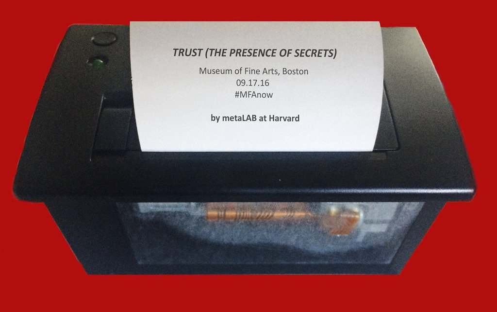 TRUST (the presence of secrets) at Boston MFA this coming Saturday 9/17