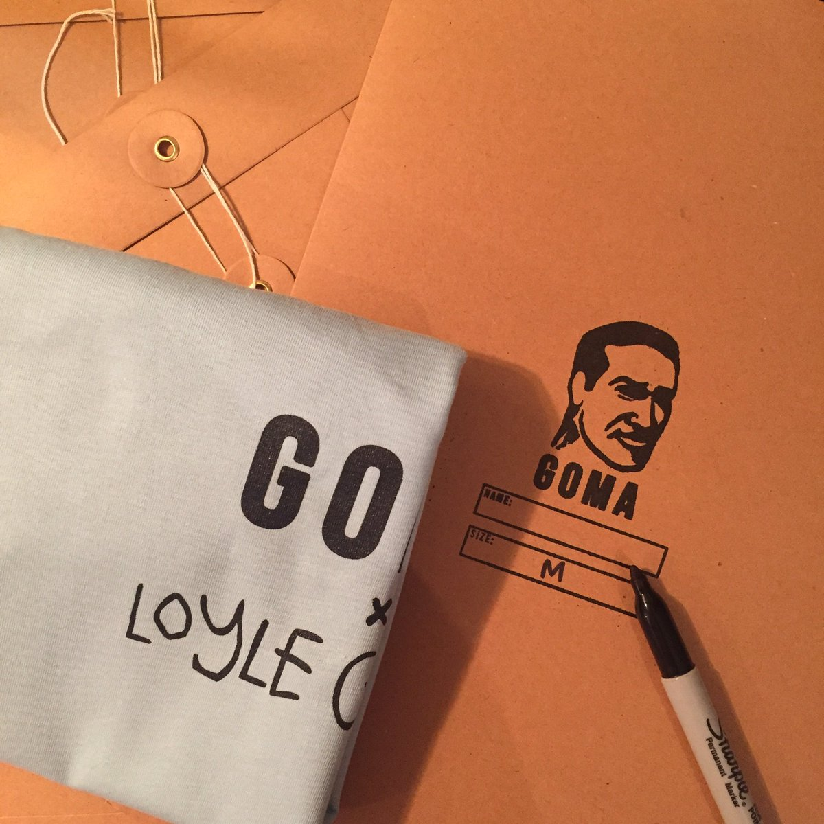 Our tee and zine with @LoyleCarner just dropped online - be quick gomacollective.com 💨💨