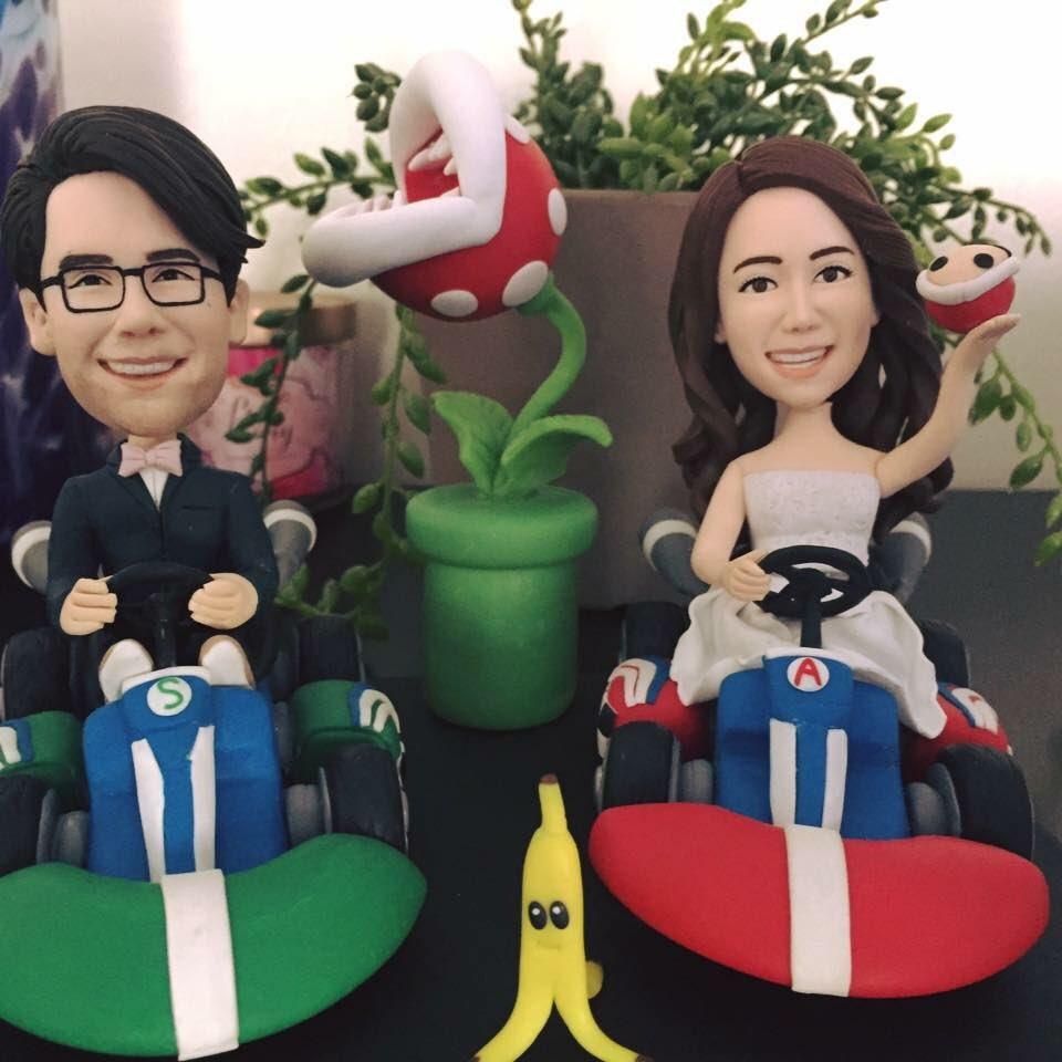 My wifes magnum opus, Mario Kart style. #mariokart #SuperMario