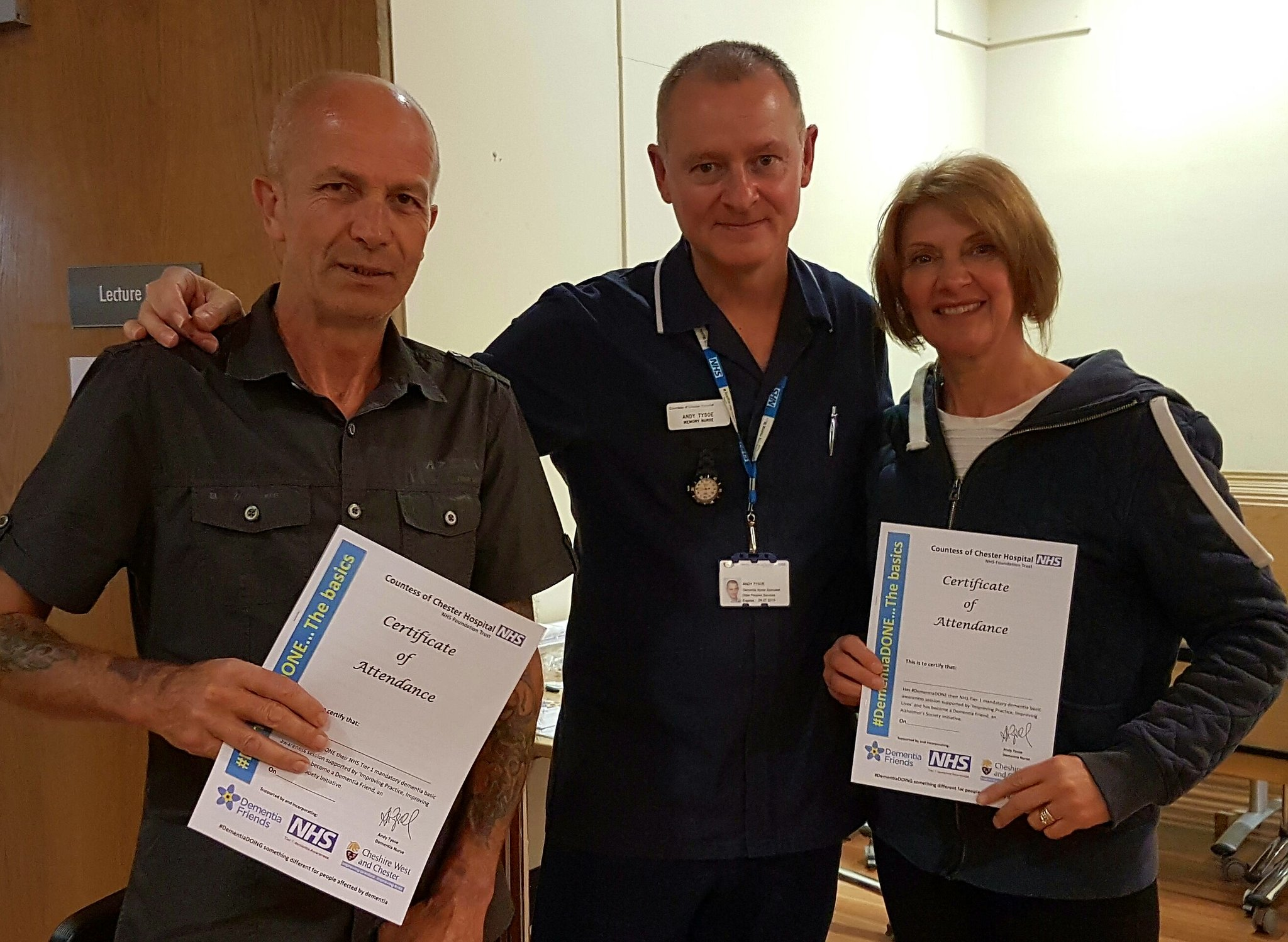 Very very proud 2 announce that @mason4233 @jaynegoodrick attended  #DementiaDo...the basics today @TheCountessNHS 😊 https://t.co/48xa5QFtz6