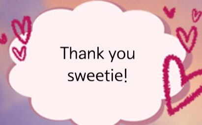 Images - Thank You Sweety