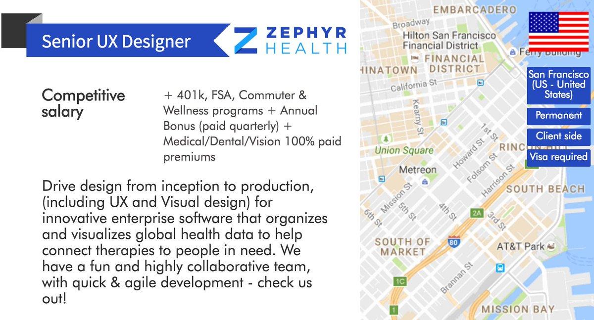 Uxswitch On Twitter Ux Job Senior Ux Designer San Francisco Competitive Salary Https T Co Betwwxquff Uxjobs Zephyrhealth