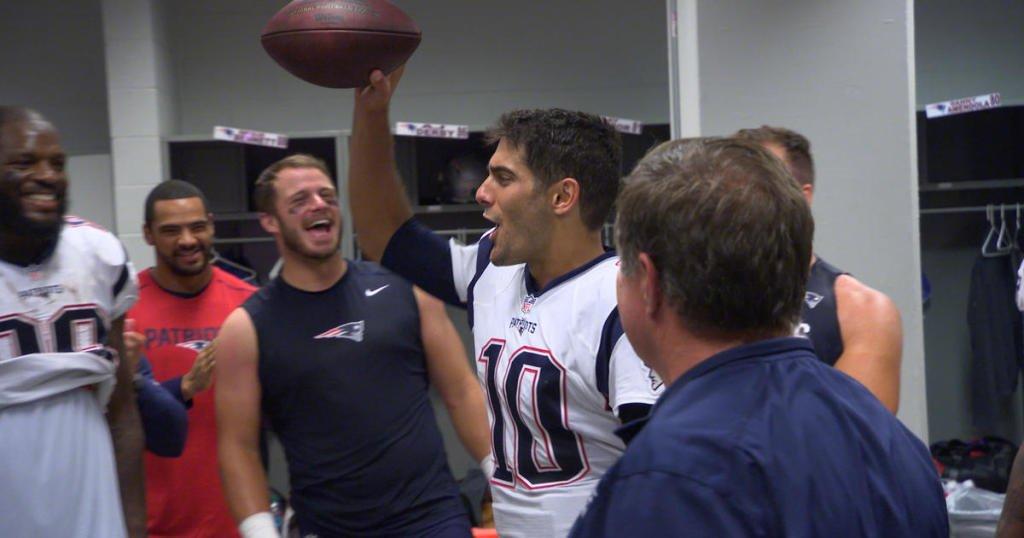 Patriots Locker Room Celebration