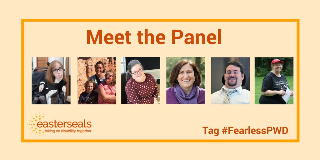 First, we want to thank our co-host @ability2thrive and our panelists today! #fearlessPWD https://t.co/xMDLRUP42E