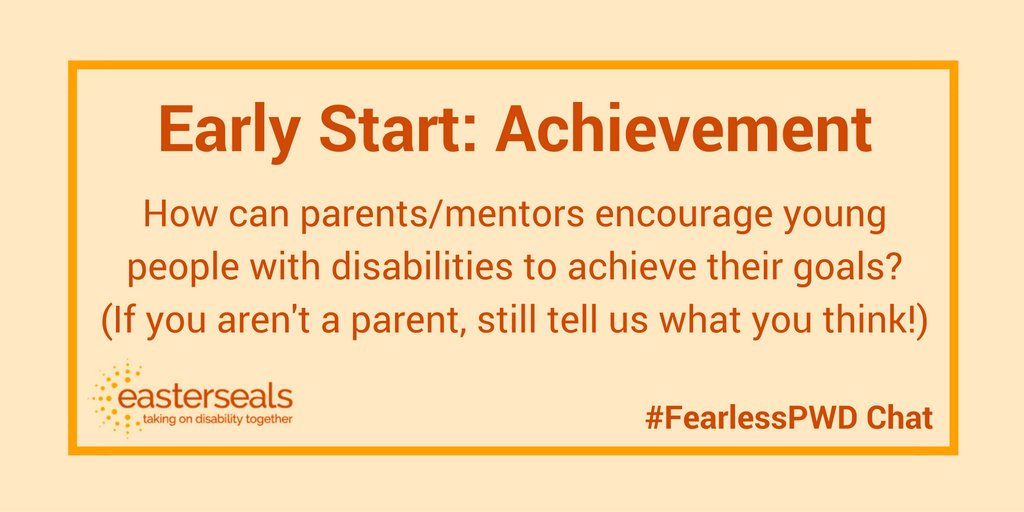 Q3. How can #parents/mentors encourage young people with #disabilities to achieve their goals? #fearlesspwd #PWD https://t.co/uWAojMs9xM