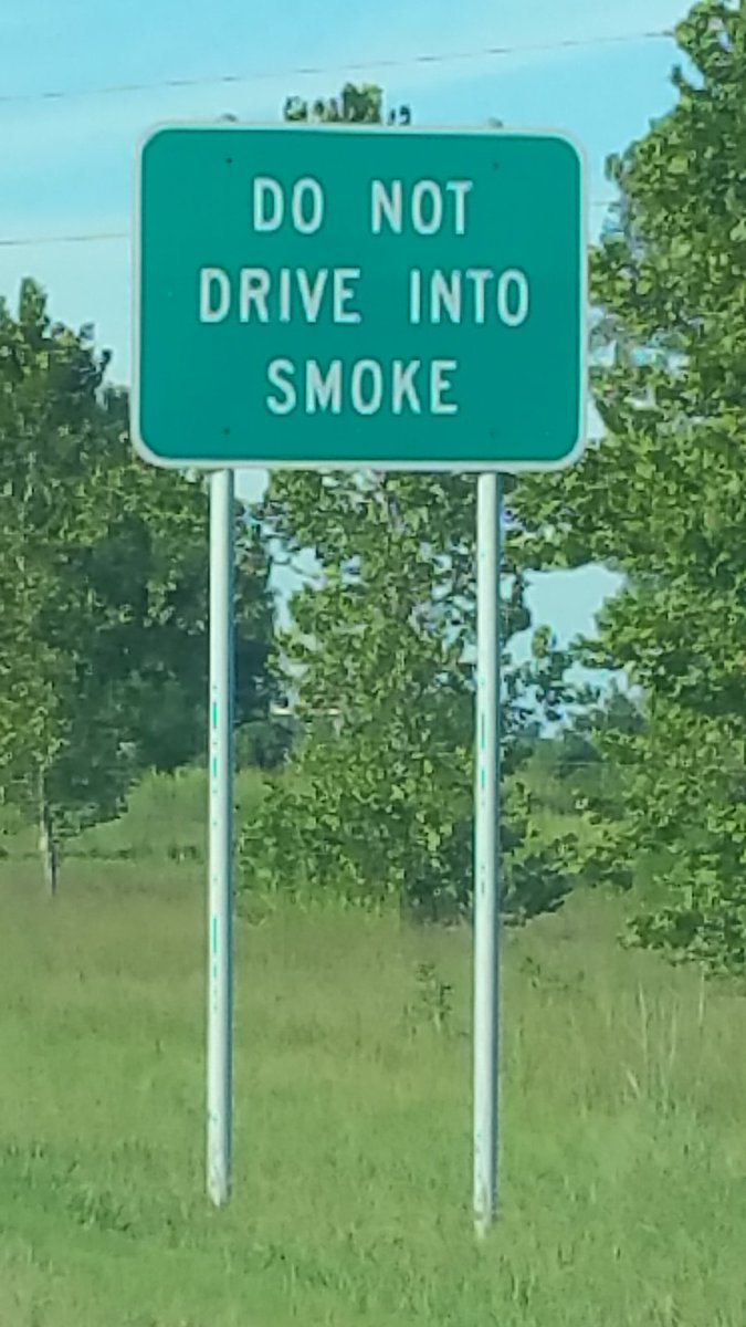 The state of Oklahoma has great advice for road warriors. https://t.co/H51RBsYdHL