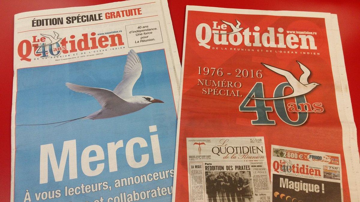 Yannick Pitou On Twitter Joyeux Anniversaire Lequotidien 40 Ans