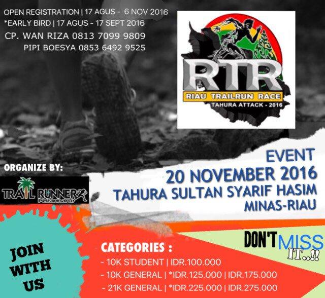 Riau Trail Run ~ 2016