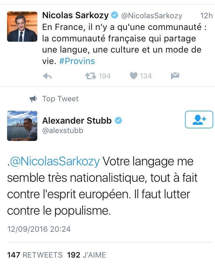 Beau coup de boule de l'ancien premier ministre finlandais à l'ancien président français