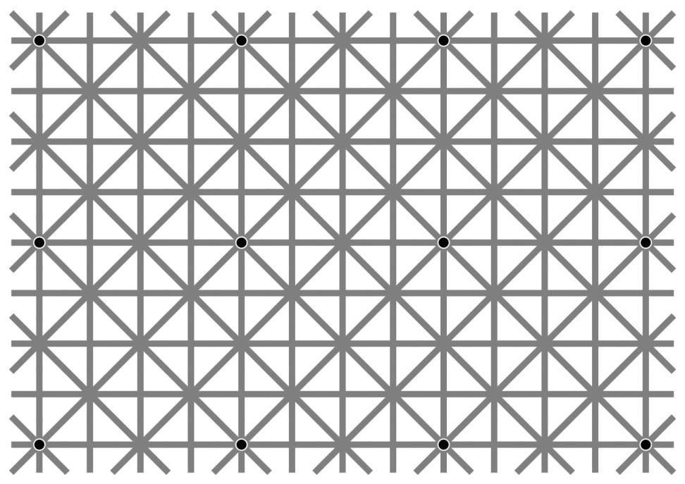 人間の目(脳)はこの12個の黒い点を全て認識することは出来ないそうですが、黒い点を全て福山雅治に変えると認識することが可能です。これは「ハンサムからは目を離せない」という事実に他ならない。