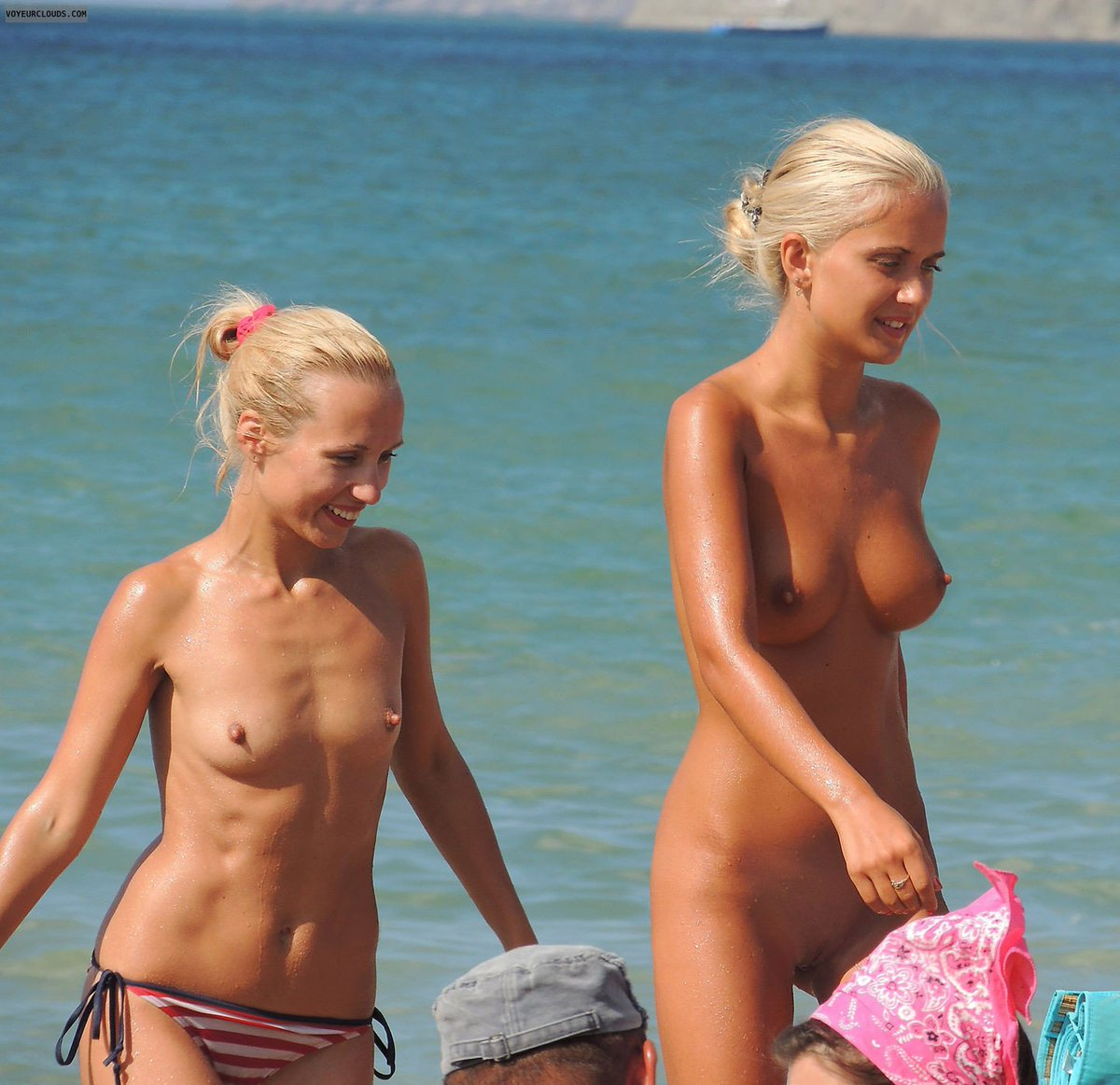 Nudist mother and daughter photo