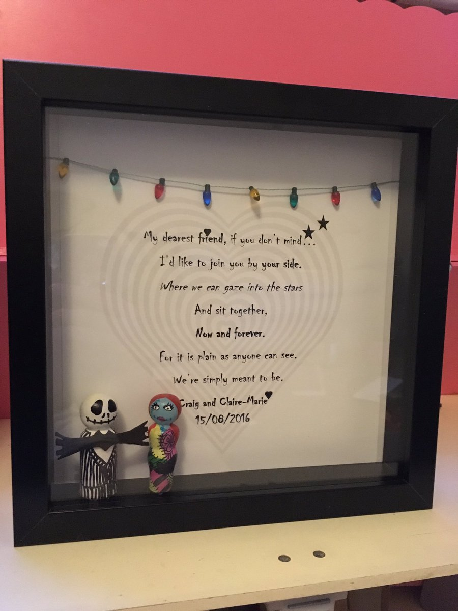 Lilah Blue On Twitter Jack And Sally Personalised Frame Handmade