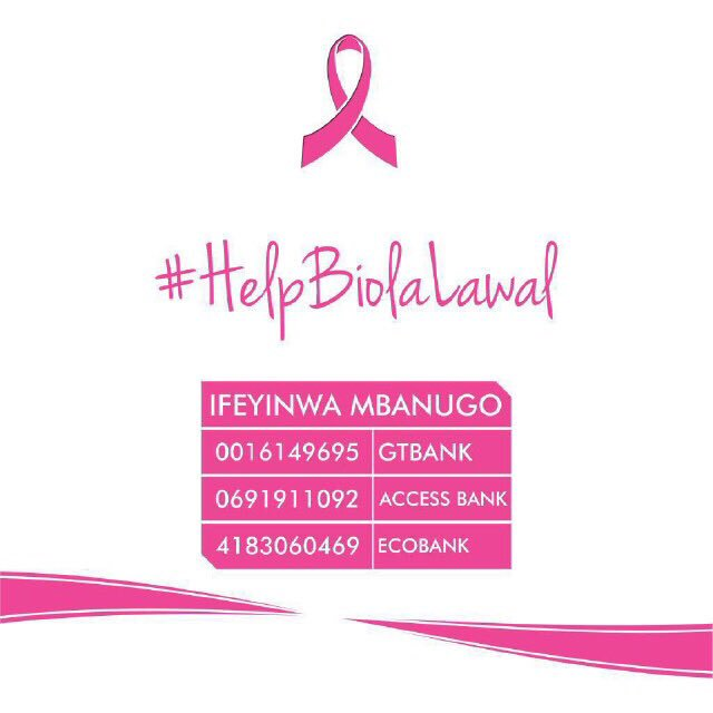 For those that have supported this cause so far, we appreciate you. But we can still do more.   #HelpBiolaLawal https://t.co/HVPNVusvlO