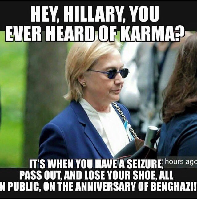 The #Deplorable Comment Was Deliberate ON THE TELEPROMPTER   To Take #HillarysHealth Off The Front Page   #KarmaWins