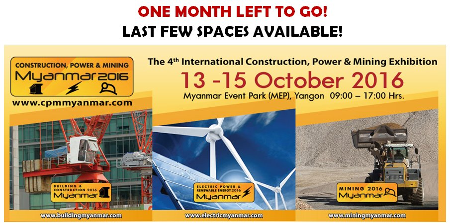 test Twitter Media - #CPMM2016 T-1 month! #Book #exhibition space today!https://t.co/kGBimJvyW7 #Myanmar #Mining #Electric #Construction https://t.co/najNqAWLan