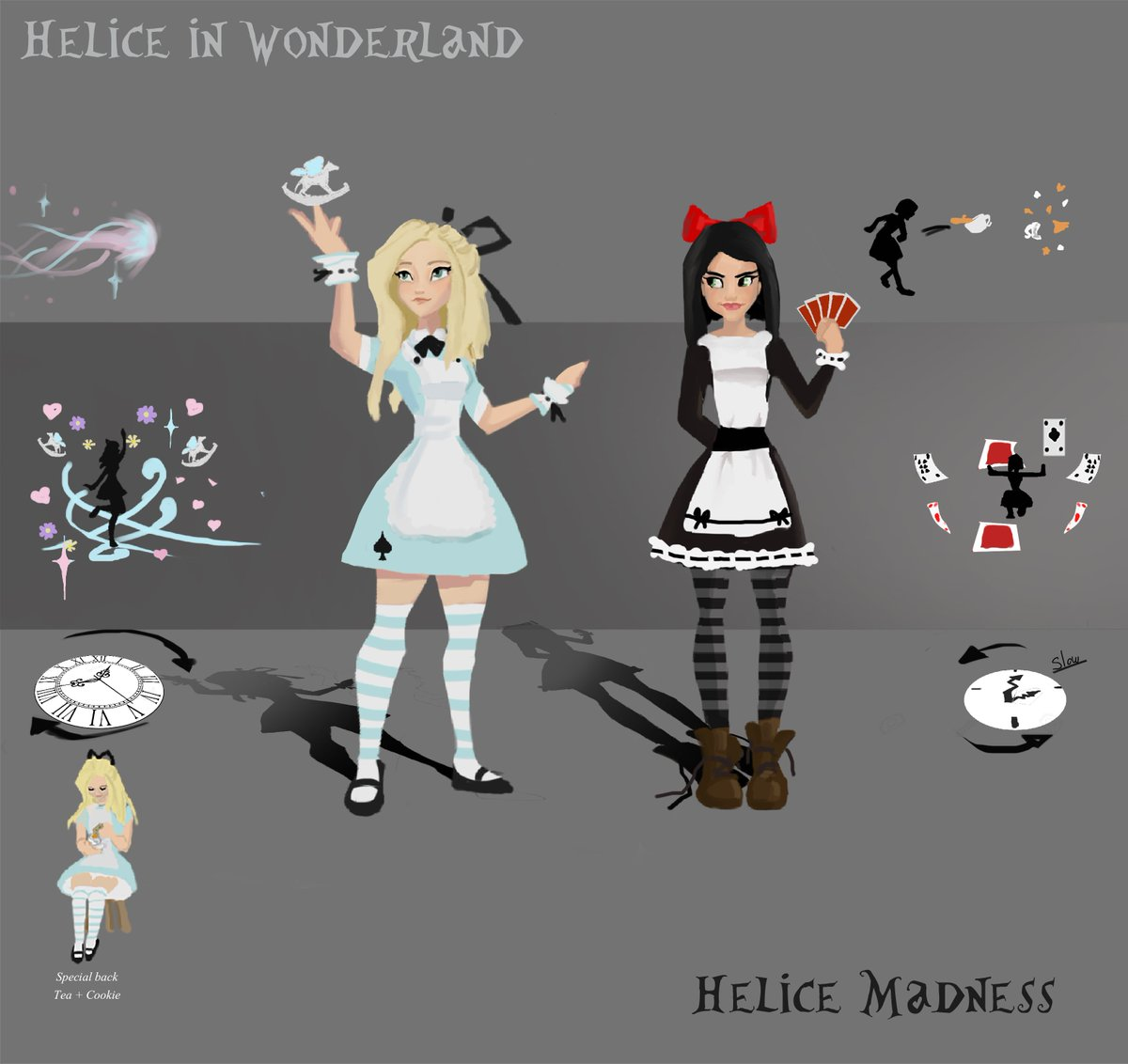 "Fiona Aubriot On Twitter: ""Helice In Wonderland Skin Idea For Hel -Smite @BethsyFr"