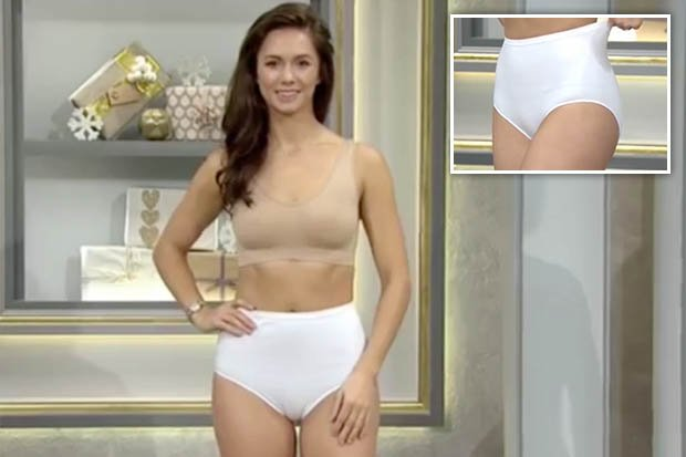 Qvc Underwear Ad Goes Viral After Stunning Model Suffers