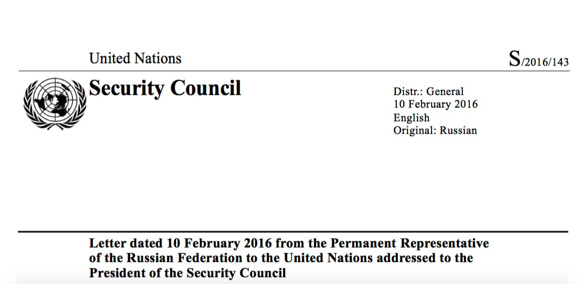 21) In a letter submitted to the UN on 10 Feb.2016, Russia again named İmkan-Der as supporter of terror in Syria https://t.co/VCqsBWeEFd