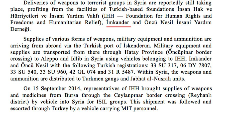 22) The letter detailed how Turkish gov't sent arms to rebels using İmkan-Der & other NGOs as fronts. https://t.co/8KAiaDFn7I