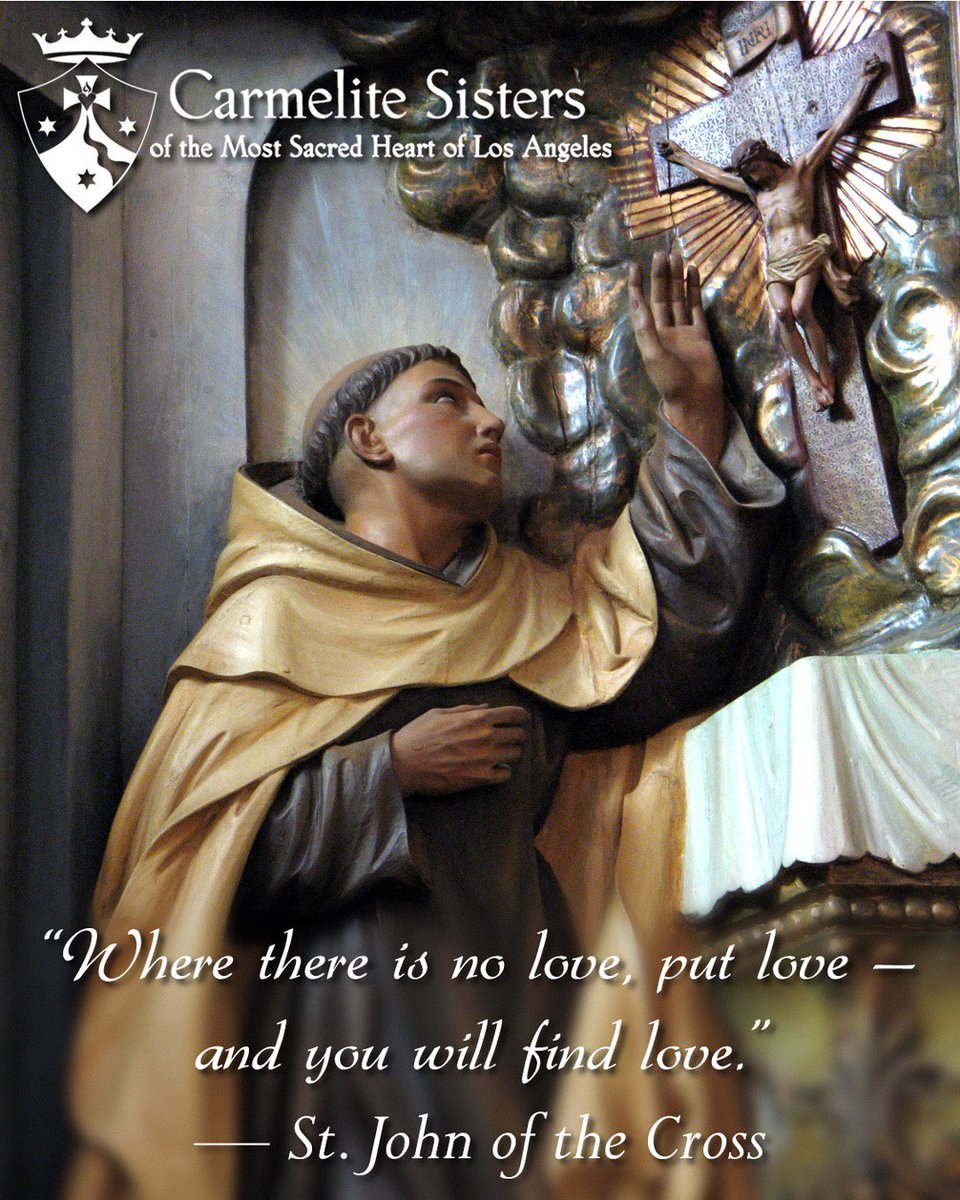 Risultati immagini per where there is no love put love and you will find love st john of the cross