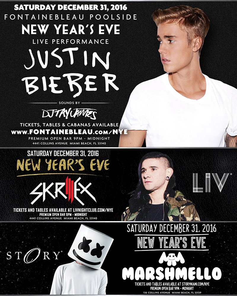 Miami...New Year's Eve 2017. @JustinBieber @Skrillex @MarshmelloMusic @STORYmiami. Tickets: https://t.co/xLRsHOPySM https://t.co/yvYtjAdeWC