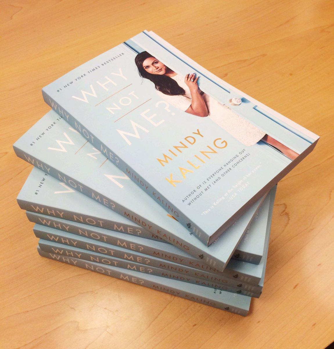 Mindy Kaling On Twitter Look What Just Landed Why Not Me Paperbacks Out 9 27 Preorder Now Or Later But Soon Https T Co Mgenxqacuj