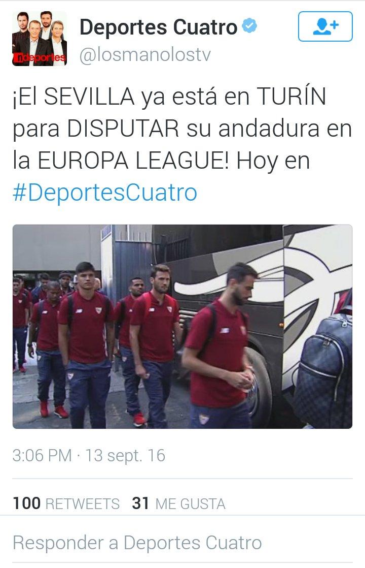 "Deportes Cuatro ""rebaja"" al Sevilla FC a la Europa League"