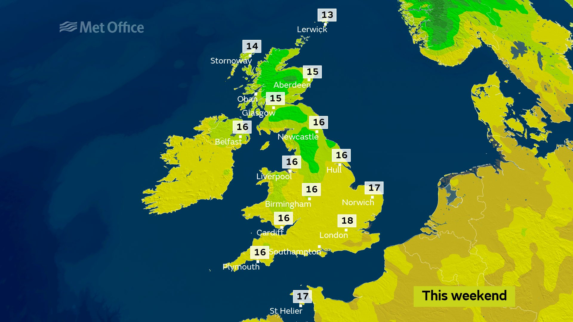 The scorching weather is not expected to last into the weekend the Met Office says