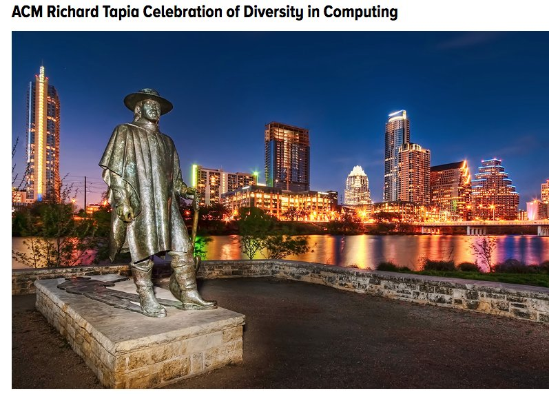 Looking forward to #Tapia2016 in #Austin! Check out what #CRAWomen has on schedule #Tapia https://t.co/G2bthcSyoB https://t.co/LWZ4f9yvxM