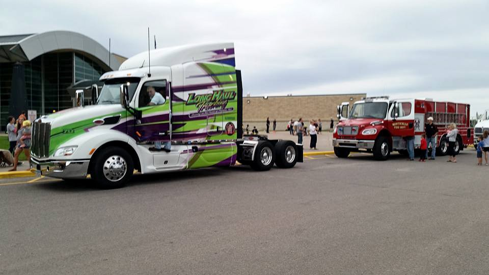 Company Driver Bill Lamantia  representing LHT at the Big Wheels Family Event in Monticello, MN! #DriveForTheBest