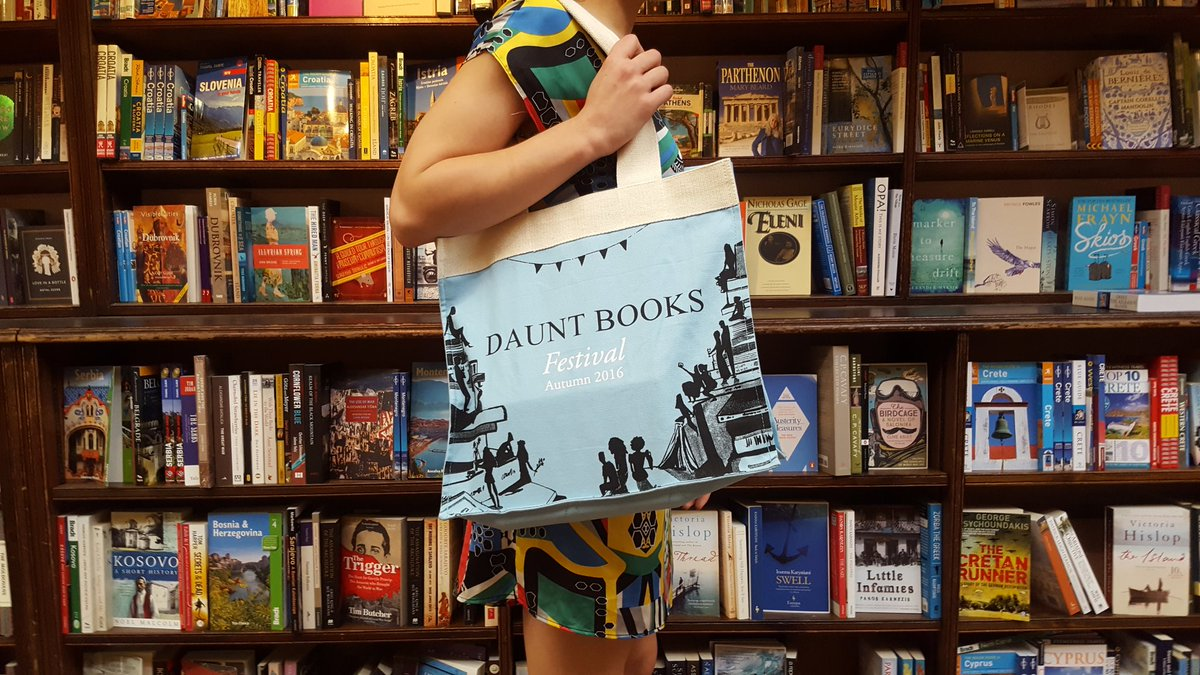 Daunt Books Autumn Festival, 6/7 Oct. RT for chance to win a limited editon bag. Line-up at https://t.co/g7Jt5cQEmP https://t.co/geJGwoTaRd