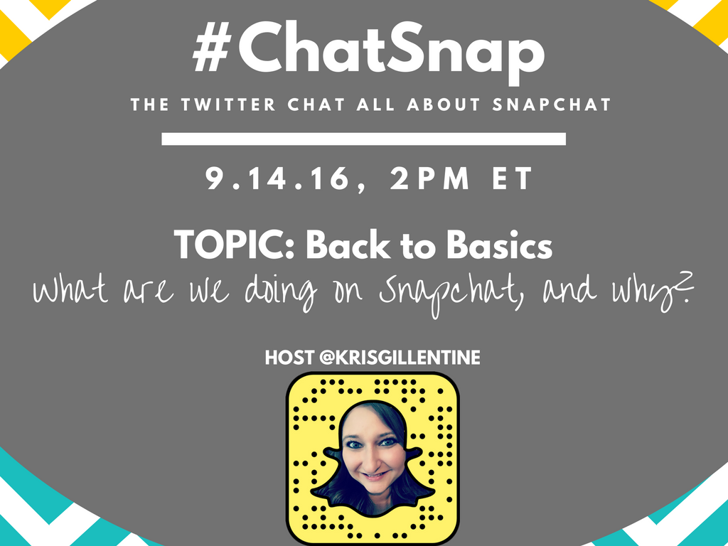 Happy #ChatSnap Day! Hope to see you at 2pm ET! https://t.co/2Nuf3QEyV7