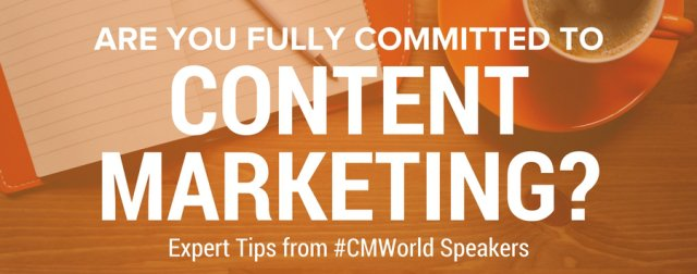 ICYMI: Be all in OR get all out with #contentmarketing. 7 of my fave lessons from #CMWorld: https://t.co/hrr2aeg6aZ https://t.co/qnPbTGX7xZ