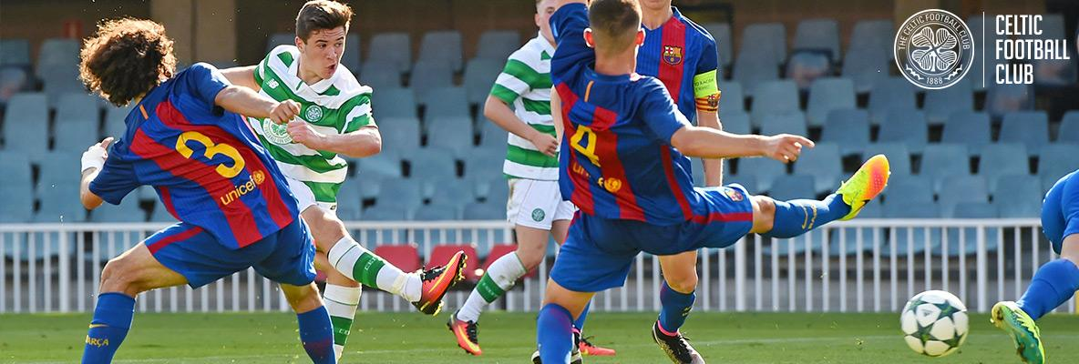 FULL-TIME in the  UEFAYouthLeague   FCBarcelona 2-1 Celtic  UYL 6496dc5b9473a