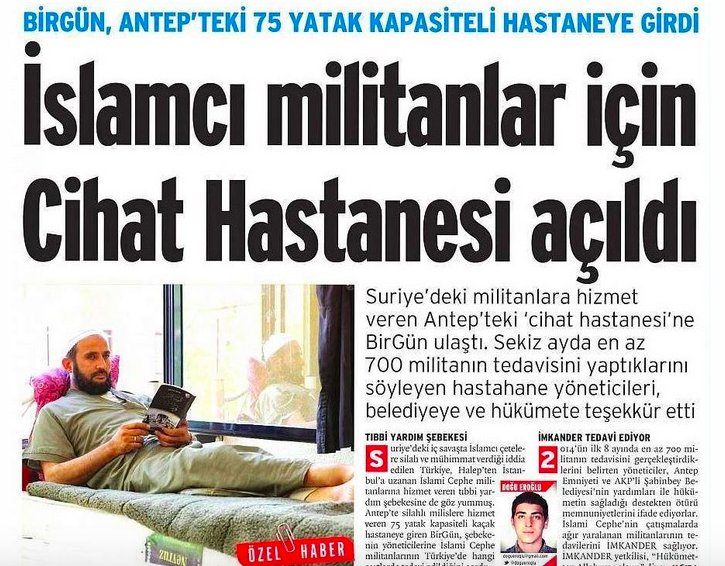 13) The group run a hospital in Gaziantep, helping hundreds of wounded Jihadists to get treatment, a daily reported https://t.co/CveacFhaYr