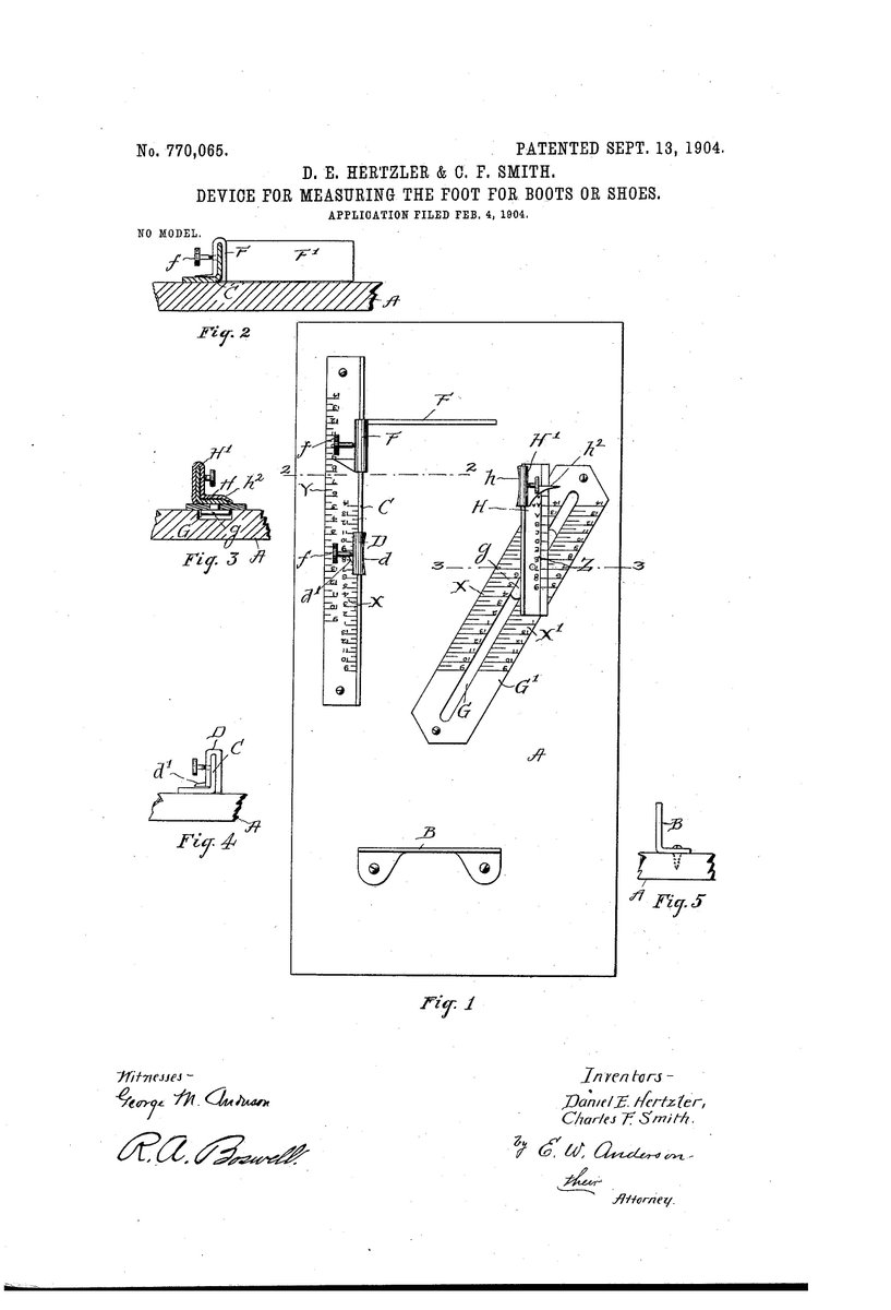 Suiter Swantz Ip On Twitter Patentoftheday Device For Measuring Electronic Choke Circuit Diagram Foot Boots Shoes 9 13 1904 Us Patent No 770065 Https Tco 7fkb3pqjg7