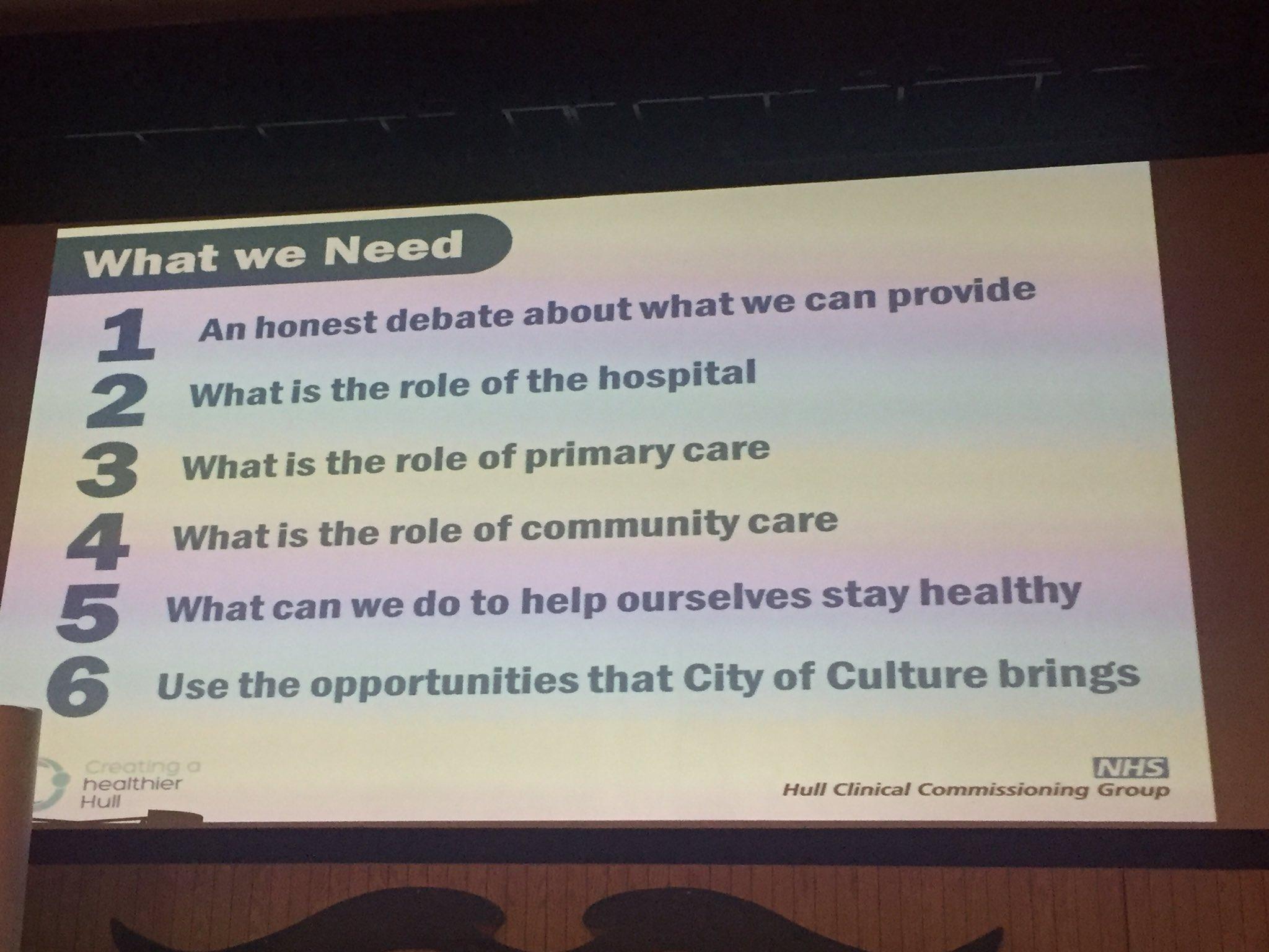 What do we need? Asks @NHSHullCCG #HullAGM https://t.co/BleTMrvs7s