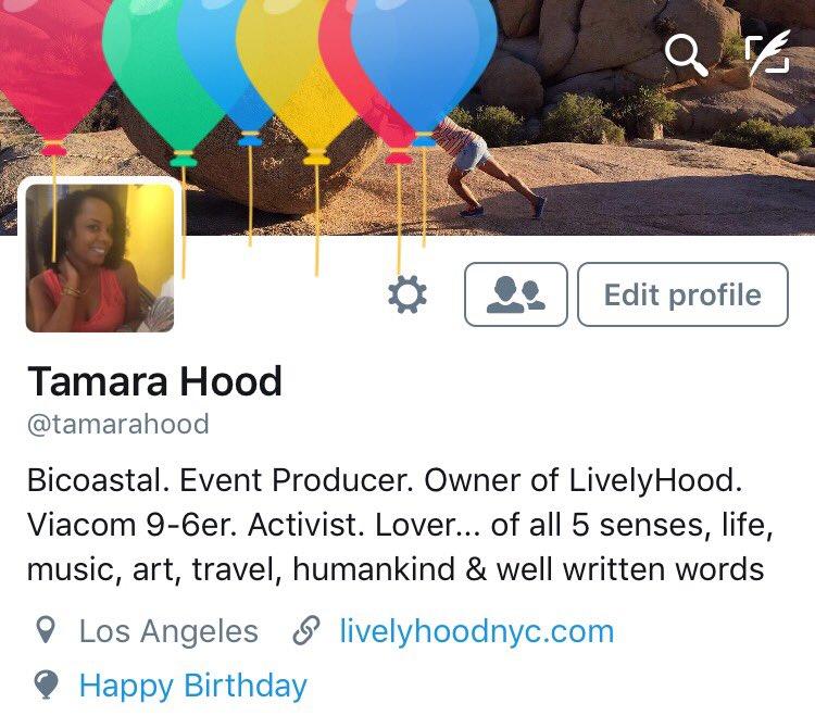 Tamara Hood On Twitter Thanks For The Birthday Balloons