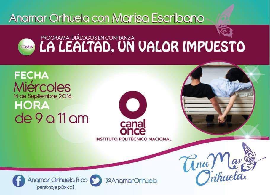 Mañana un tema para reflexionar en @DialogosCanal11 y @marisaescribano