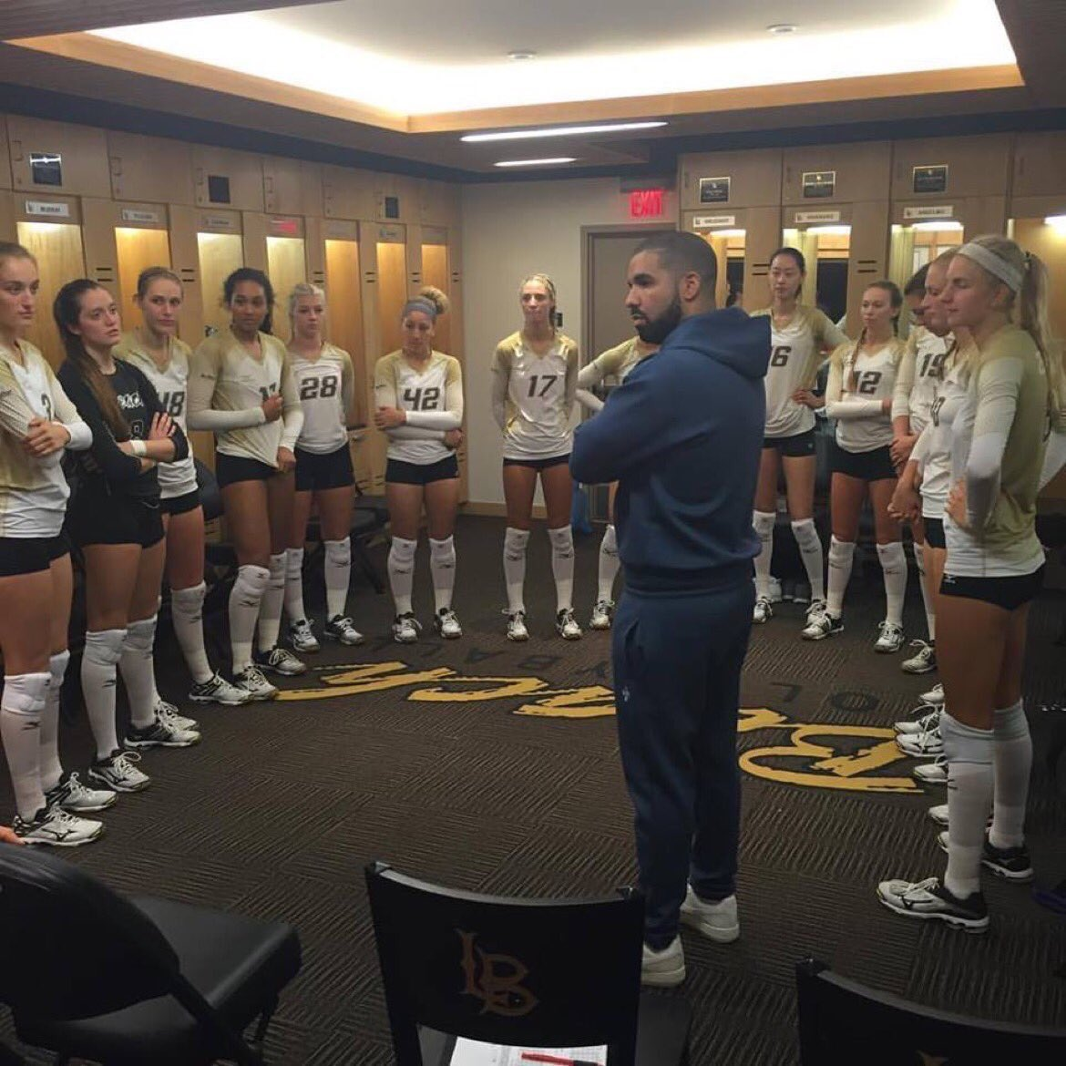 The Internet Meme'd Drake's Appearance In A Volleyball Team Locker Room