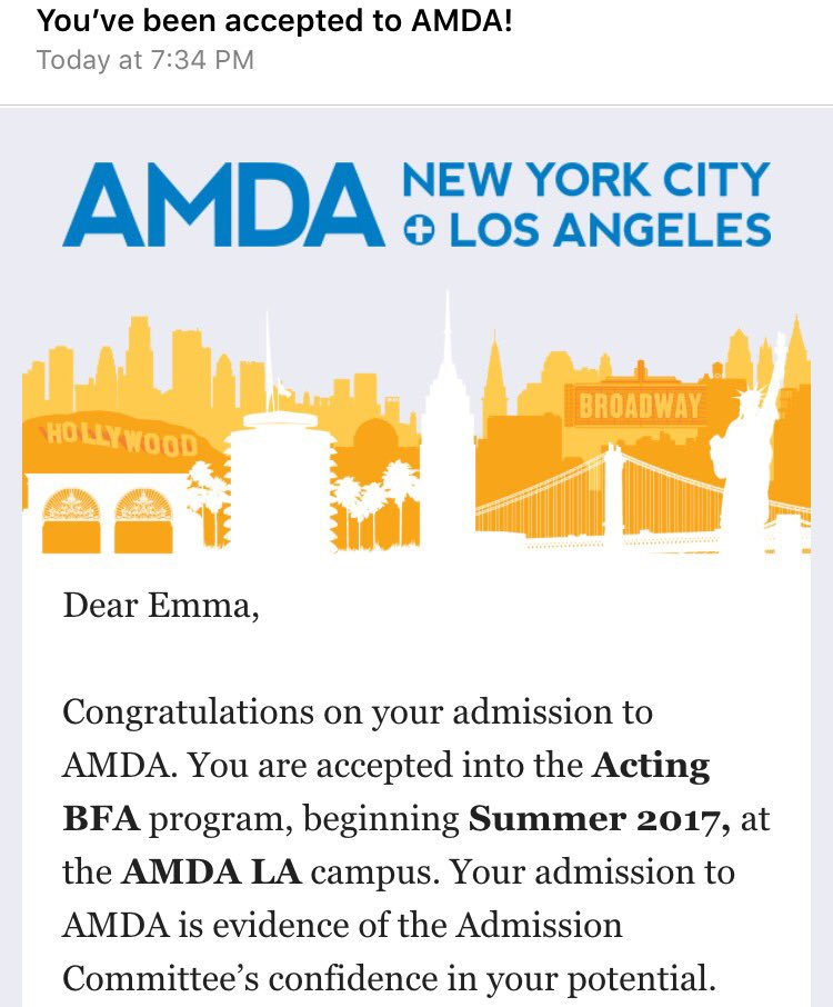 how to get into amda