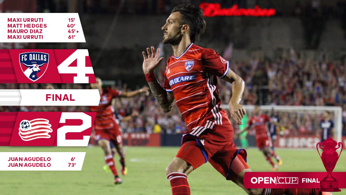 FINAL: @FCDallas 4, @NERevolution 2.   FCD ARE #USOC2016 CHAMPIONS!!!!   #DTID https://t.co/TzBQdy2y8s