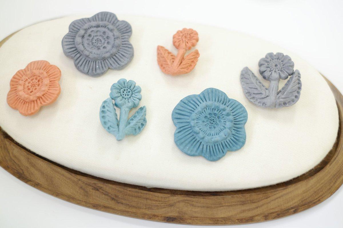 まるで芸術作品♡アートな陶器ブローチを作りたい♪