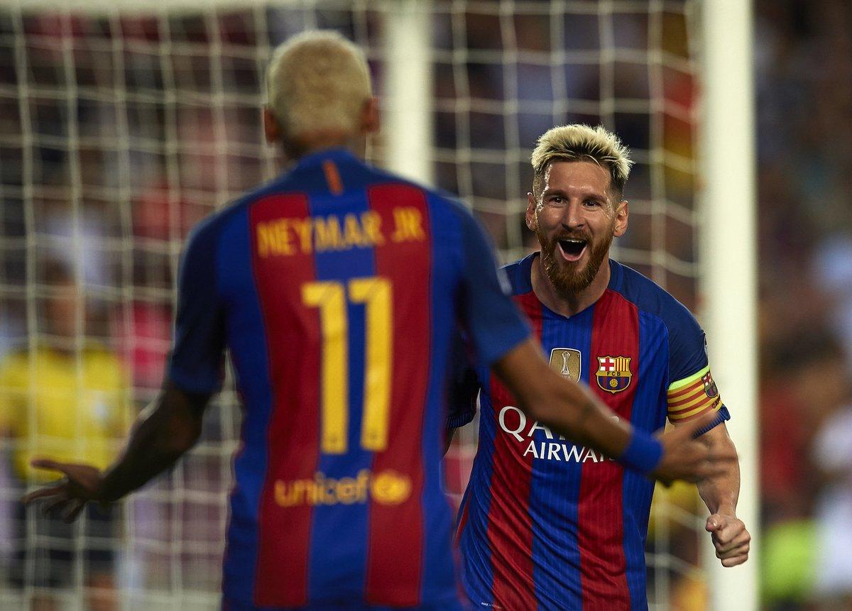 Messi  Assist Suarez  Assist Neymar  Goal