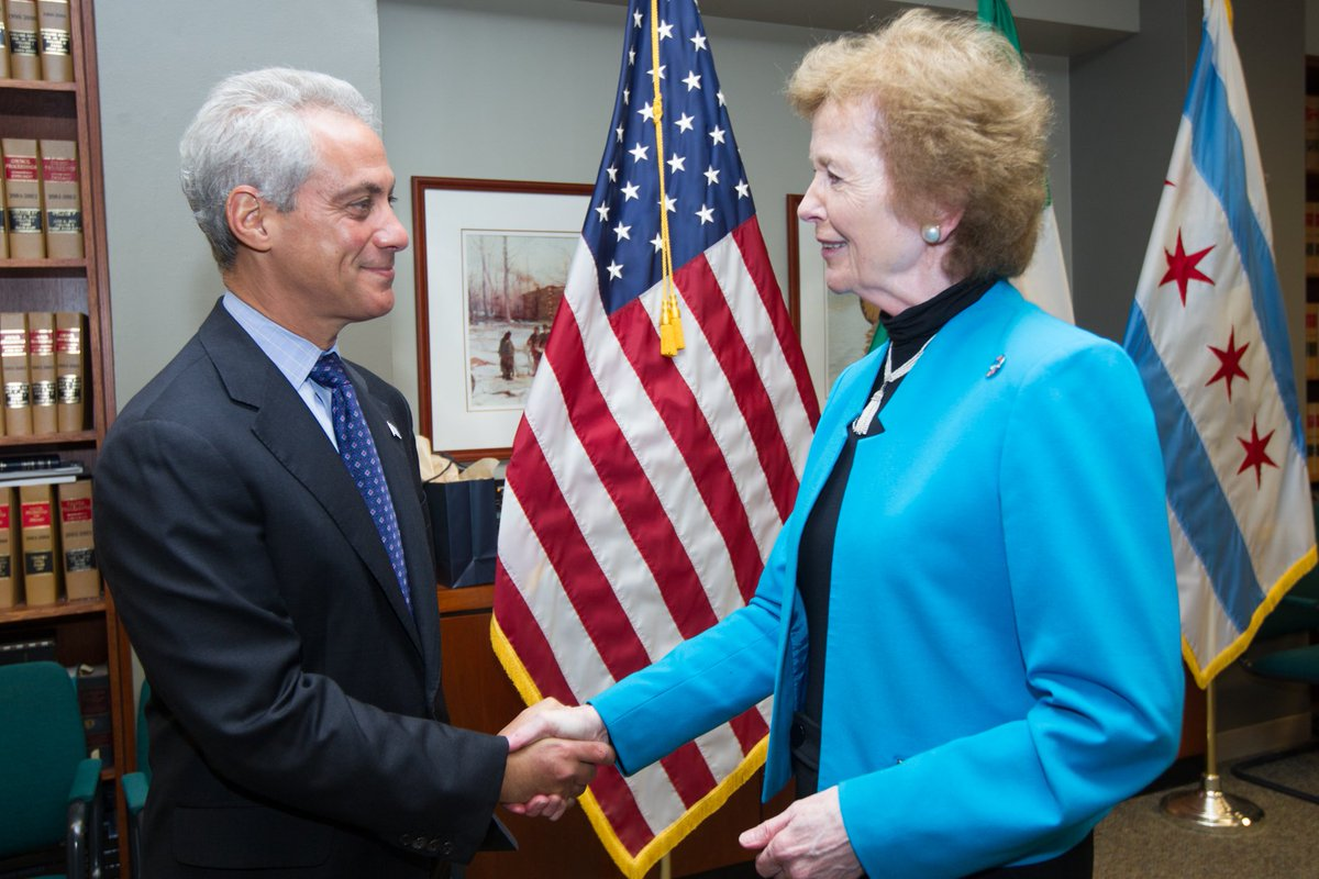 Image result for mary robinson and mayor emanuel